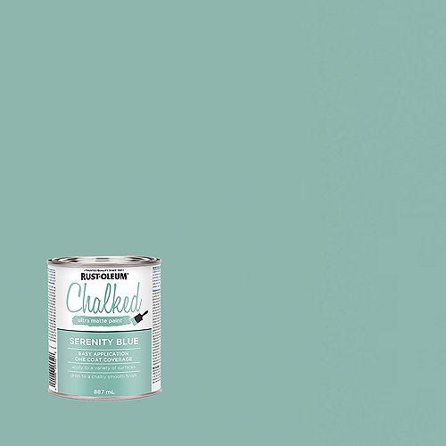 Rust-Oleum Chalked Ultra Matte Paint in Serenity Blue, 887 mL