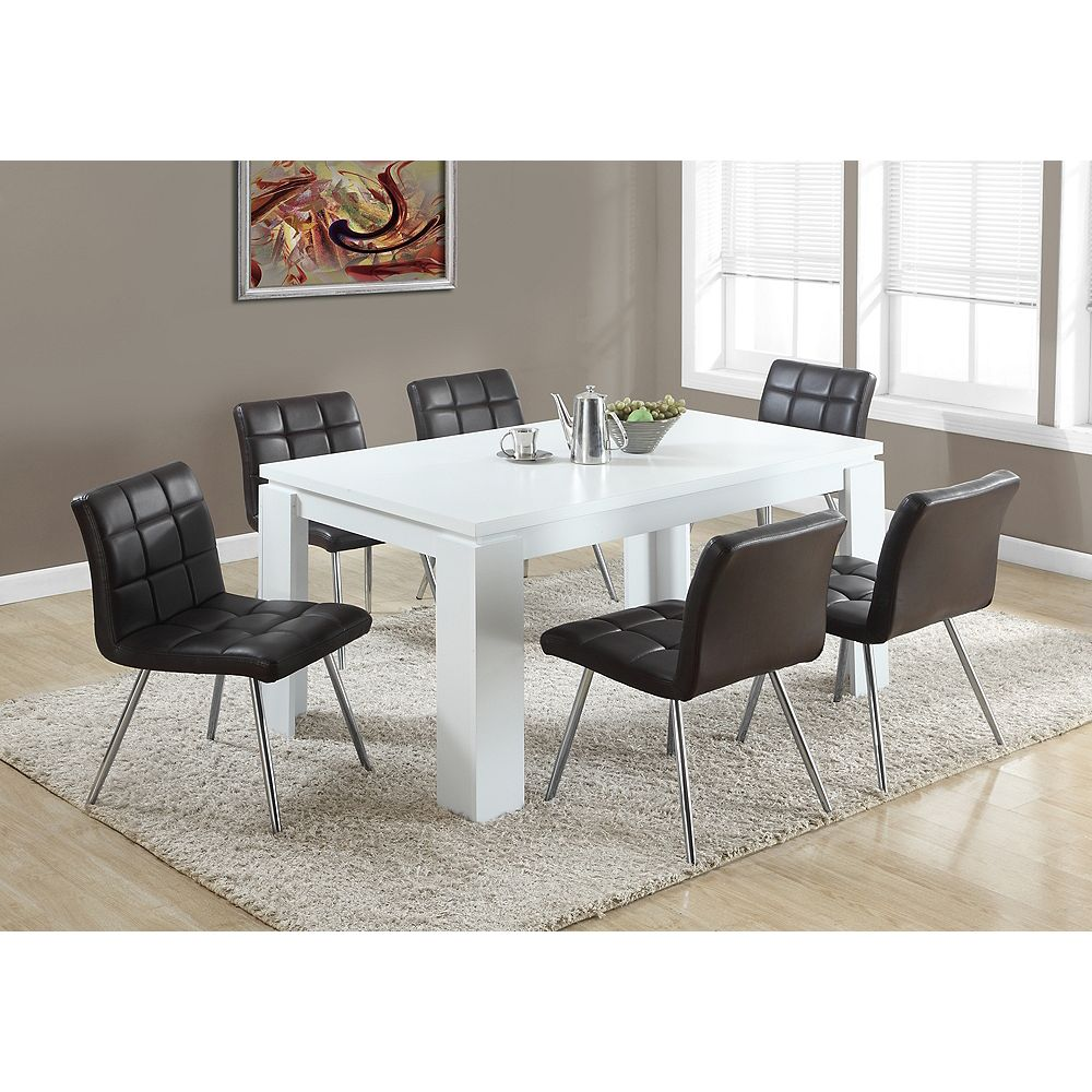 """Monarch Specialties White Hollow-Core 36""""X 60"""" Dining ..."""