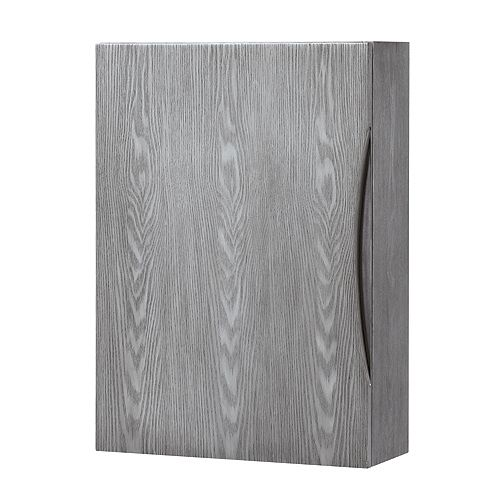 20-inch Wood-Frame Wall Cabinet in Ash Gray