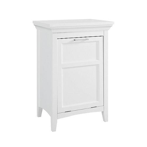 Armoire avec panier à lessive intégré, blanc