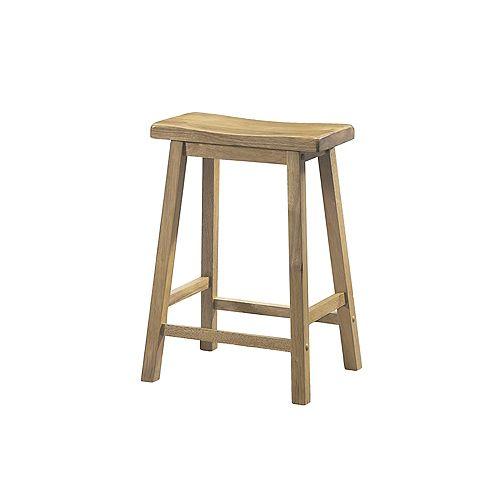 Barstool / 24 Inch H / Natural Saddle Seat (Set of 2)