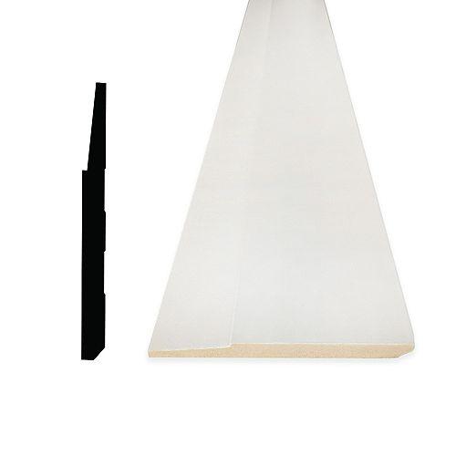 5/8-inch x 5 1/2-inch Modern MDF Primed Fibreboard Baseboard Moulding
