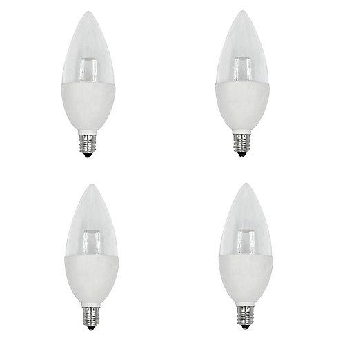 40W Equivalent Daylight (5000K) B10 Candelabra Base Dimmable LED Light Bulb (4-Pack) - ENERGY STAR®