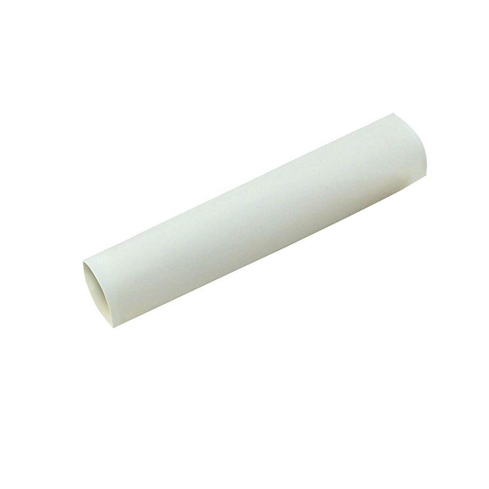 Gardner Bender Heat Shrink Tubing, 1/2 Inch - 1/4 Inch, White, 3 Inch, 3/Clam