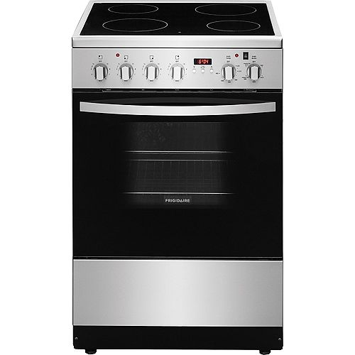 24-inch 1.9 cu. ft. Freestanding Electric Range in Stainless Steel