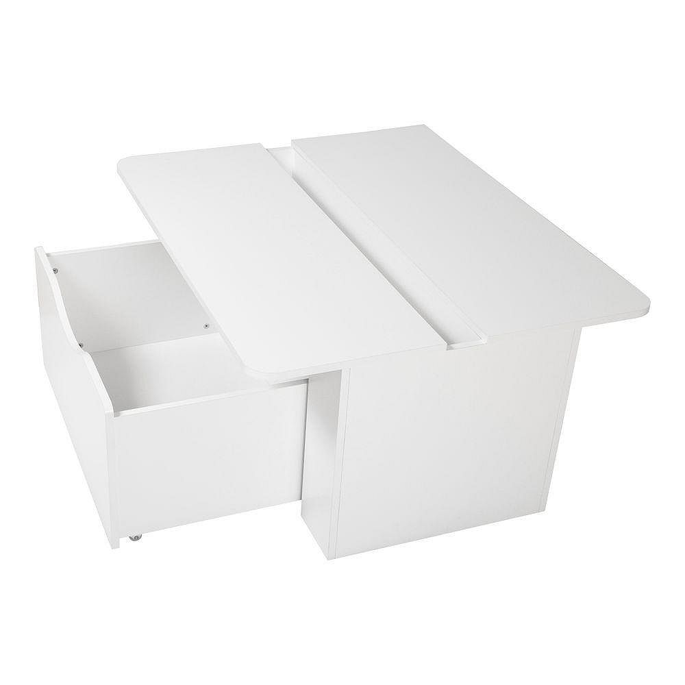South Shore Storit Pure White Mobile Toy Box Activity Table