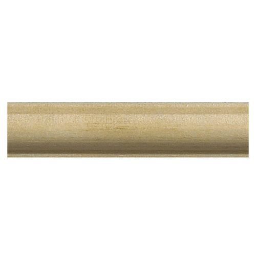 Alexandria Moulding 3/16-inch x 7/16-inch x 4 ft. Basswood Decorative Moulding