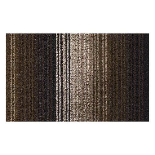 Paillasson, PVC touffeté, 18 po x 29 po, Lexington Bianca, noir et havane