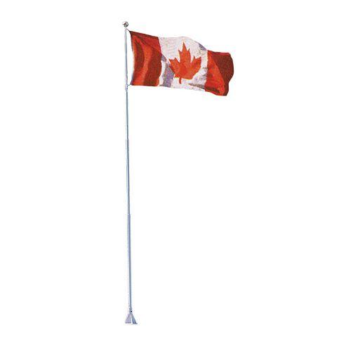 Mât de drapeau «Flexi-Flag», 18 pi, avec drapeau canadien