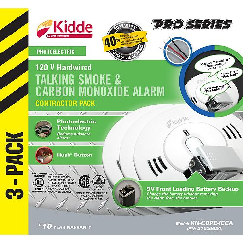 Combination Alarms  (3-Pack)