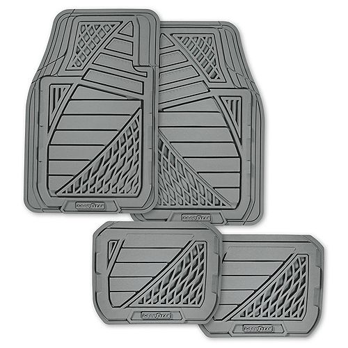 Premium 4-Piece Rubber Car Mat - GRY