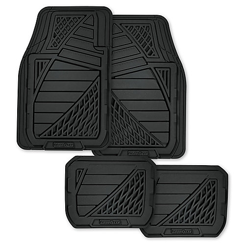 Premium 4-Piece Rubber Car Mat - BLK