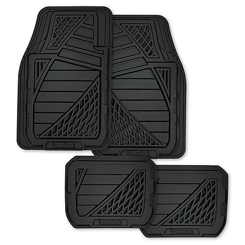 Premium 4-Piece Rubber Car Mat - BLK