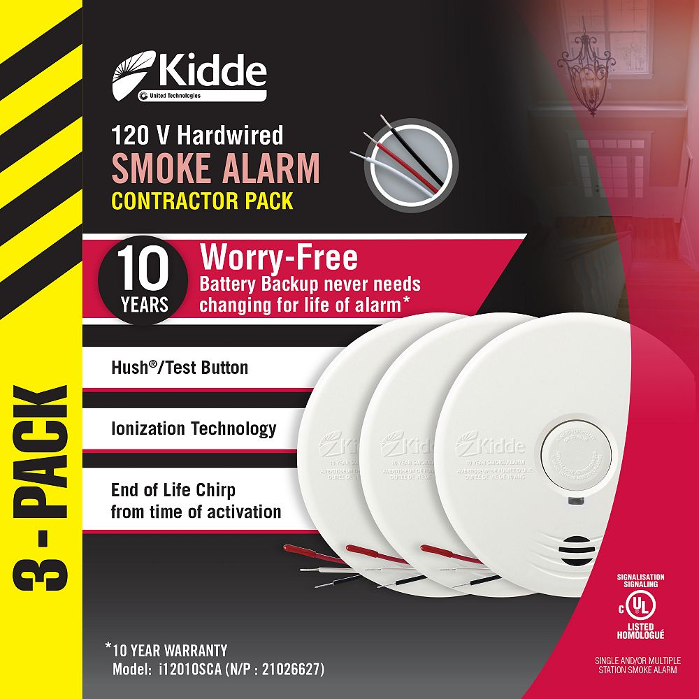 Kidde Worry Free Smoke Alarm (3-Pack)