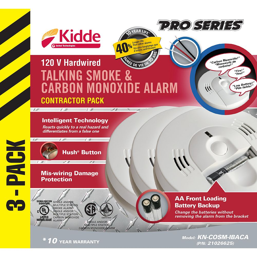 Kidde Talking Combination Alarms (3-Pack)