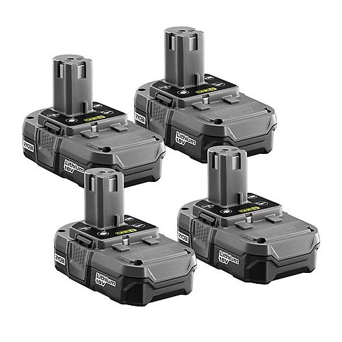 ONE+ 18V 1.3Ah Lithium-Ion Compact Battery Pack (4-Pack)
