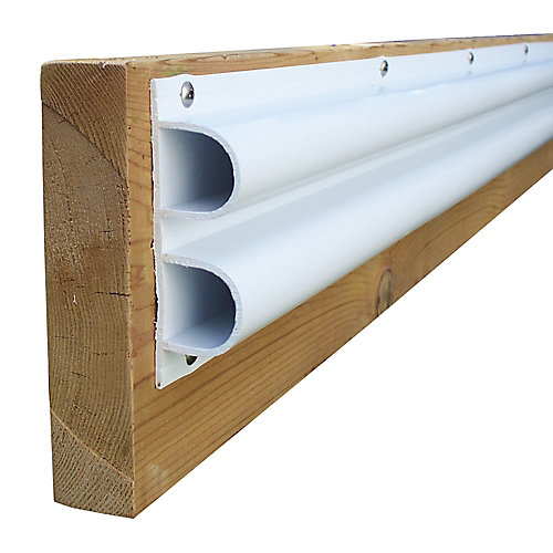 "Double ""D"" Profile, 40 feet/carton, White"