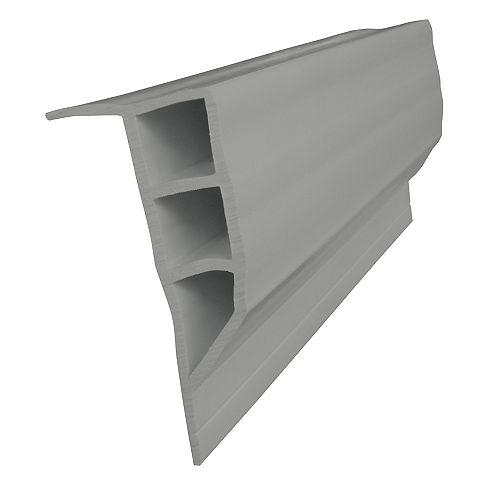Dock Edge Butoir à face plane, 24 pi/boîte, gris