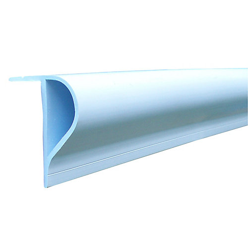 "Slant ""p"" Profile, 16' Roll, White"