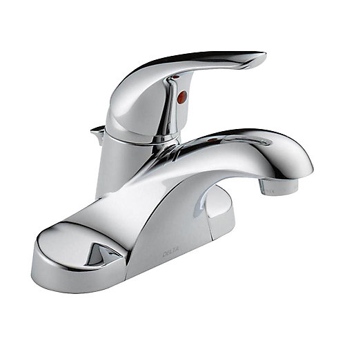 Foundations 4 inch Centerset Single-Handle Bathroom Faucet in Chrome