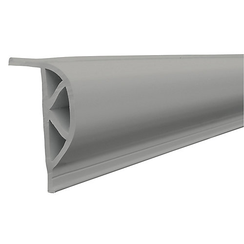 "Heavy Slant ""P"" PRODOCK Profile, 24 feet/carton, Grey"