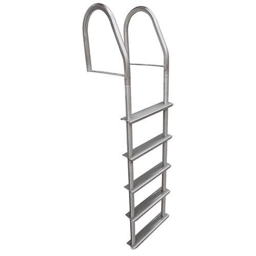 Échelle de quai fixe en acier inoxydable à 5 marches
