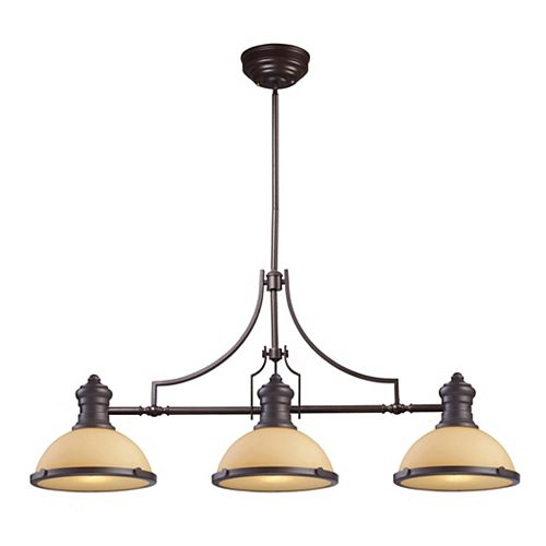 Titan Lighting Chadwick 3-Light Island Light In Oiled Bronze