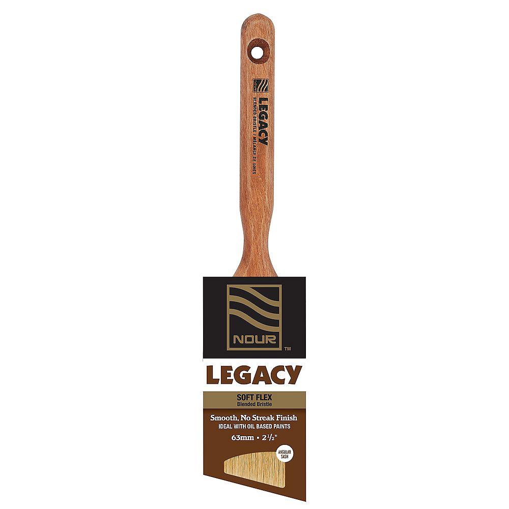 Nour Legacy 2 ½ inch Blended Bristle Angular Brush