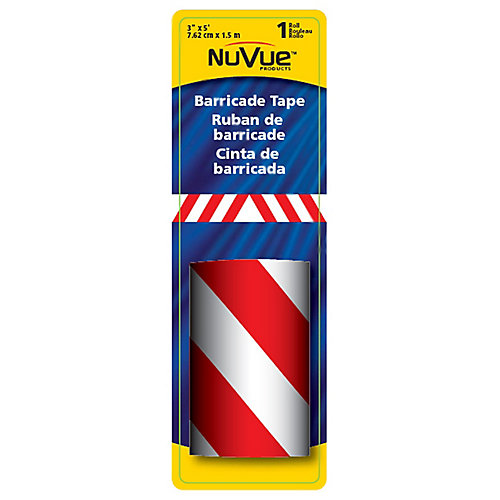 "3"" x 5' Red/White Barricade Stripe"