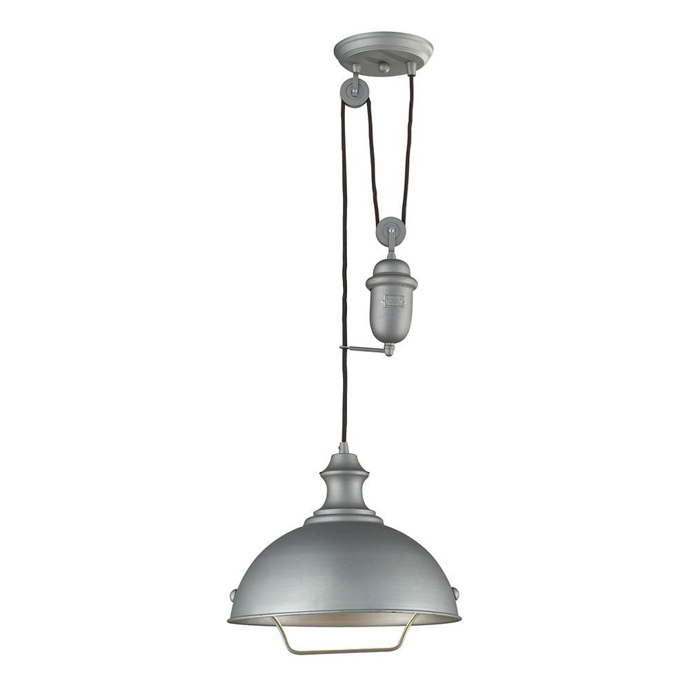 Titan Lighting Farmhouse Aged Pewter Pendant