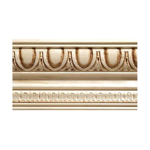 Ornamental Mouldings Moulure couronnée  à ove et fléchette en bois dur blank - 1/2 x 4 x 96 po