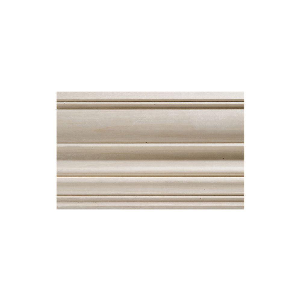 Ornamental Mouldings Moulure de couronnement coloniale en bois dur blanc - 1/2 x 4 1/2 x 96 po