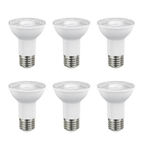 50W Equivalent Bright White (3000K) PAR20 Dimmable LED Flood Light Bulb (6-Pack) - ENERGY STAR®