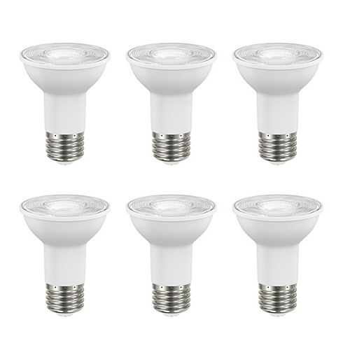 50W Equivalent Bright White (3000K) PAR20 Dimmable LED Flood Light Bulb (6-Pack) - ENERGY STAR®
