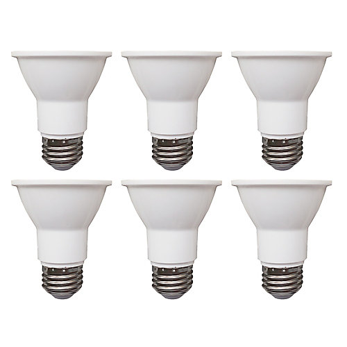 50W Equivalent Daylight (5000K) PAR20 Dimmable LED Flood Light Bulb (6-Pack) - ENERGY STAR®