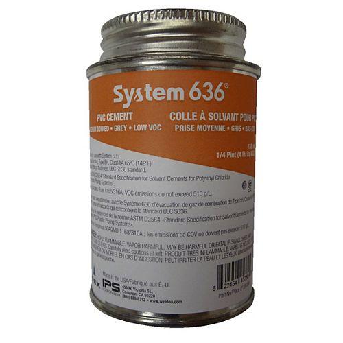 COLLES À SOLVANT PVC - SYSTÈME 636 - 118ml