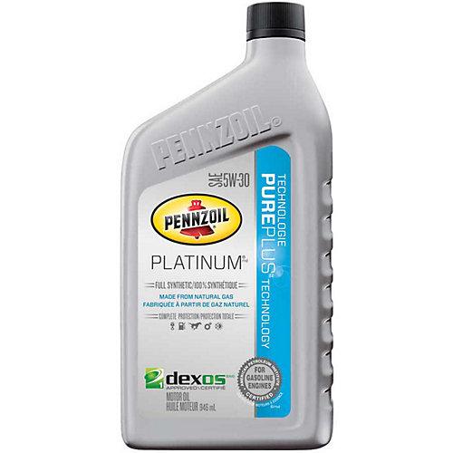 Pennzoil Platinum Synthetique 946mL 5W30 Huile Moteur