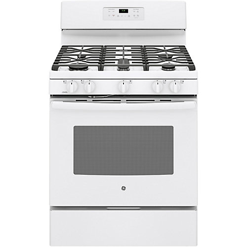 30-inch 5.8 cu.ft. Single Oven Gas Range with Self Cleaning Oven in White