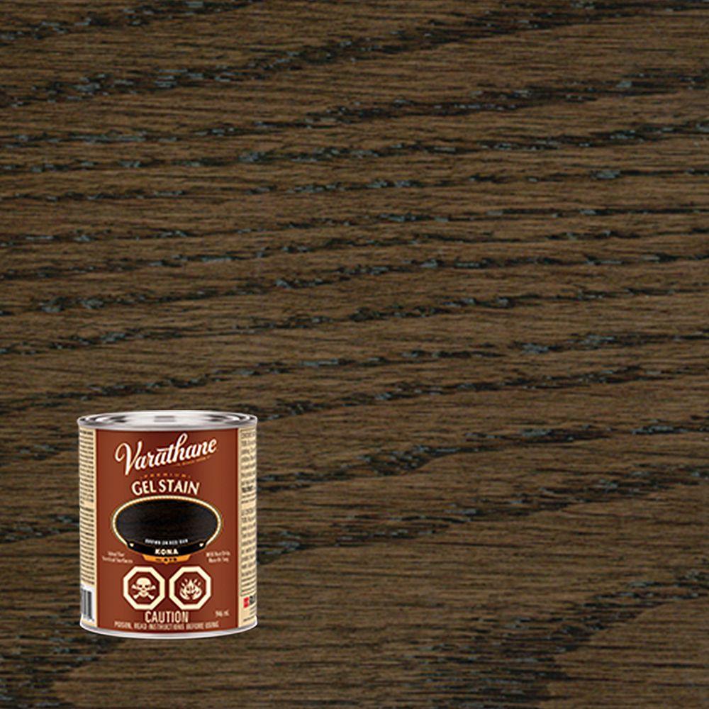 Varathane Gel Premium Gel Wood Stain in Kona, 946 mL