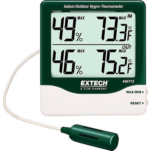 Big Digit Indoor/Outdoor Hydro-Thermometer