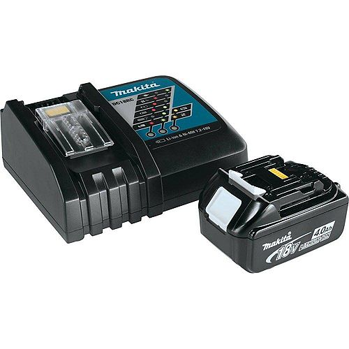 MAKITA 18V 4.0Ah Lithium-Ion Battery and Lithium-Ion Rapid Charger Kit