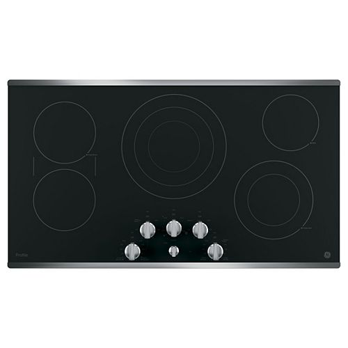 36-inch W Radiant Electric Cooktop with 5 Elements with Rapid Boil in Stainless Steel