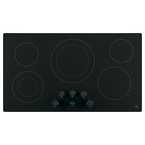GE Table de cuisson électrique 36 po, noir