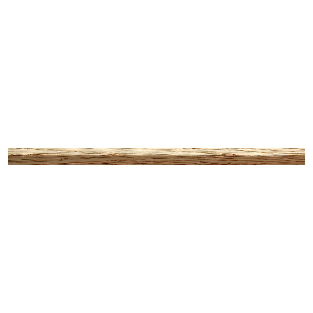 Ornamental Mouldings White Hardwood Outside Corner Trim Moulding 3 8 X 3 8 X 48 Inches The Home Depot Canada