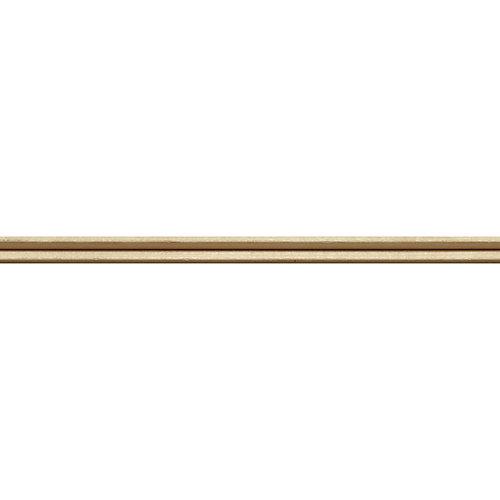 Blanche en bois dur de moulure de panneau coin extérieur - 3/8 X 3/8 po - vendu par pièce de 1,22 m
