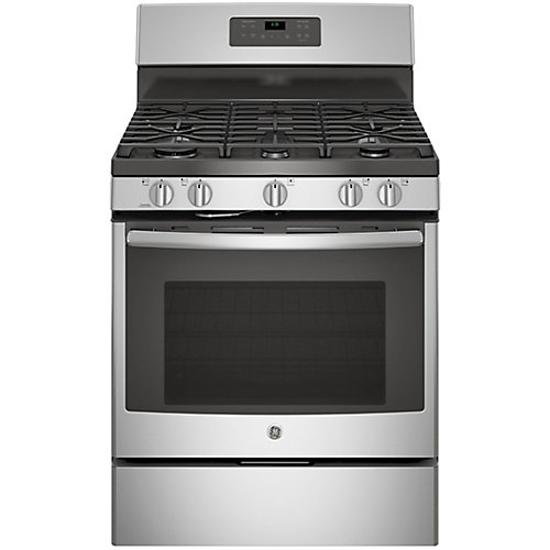 30-inch 5.0 cu. ft. Single Oven Gas Range with Self-Cleaning Oven in Stainless Steel