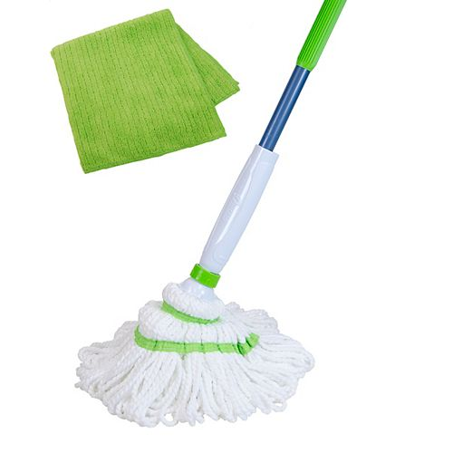 Quickie Twist Mop With Bonus Microfiber Towel