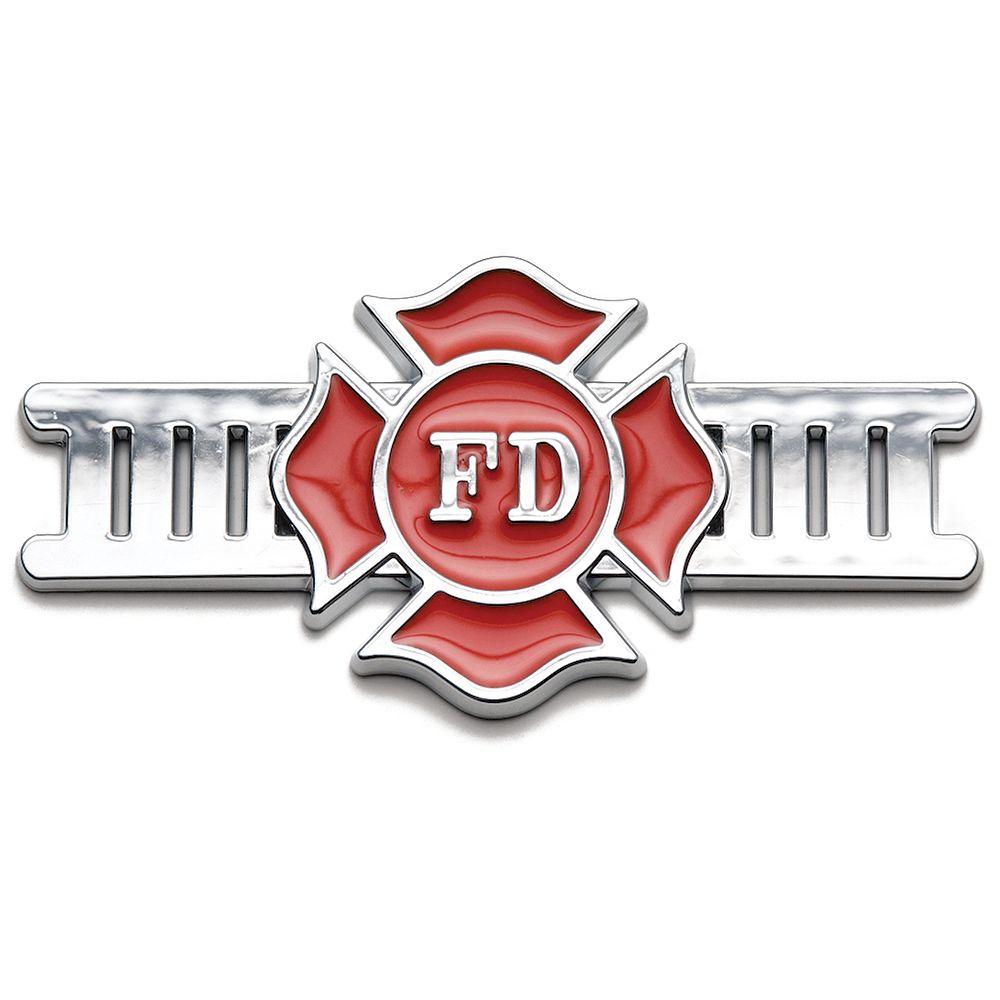 Roadsport Badgez - Chrome Emblems - Fire Fighter