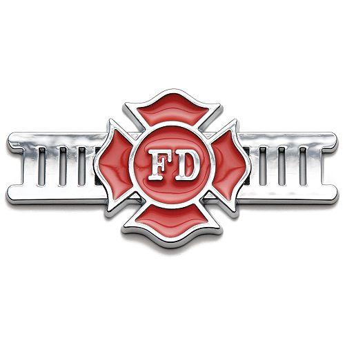 Badgez - Chrome Emblems - Fire Fighter
