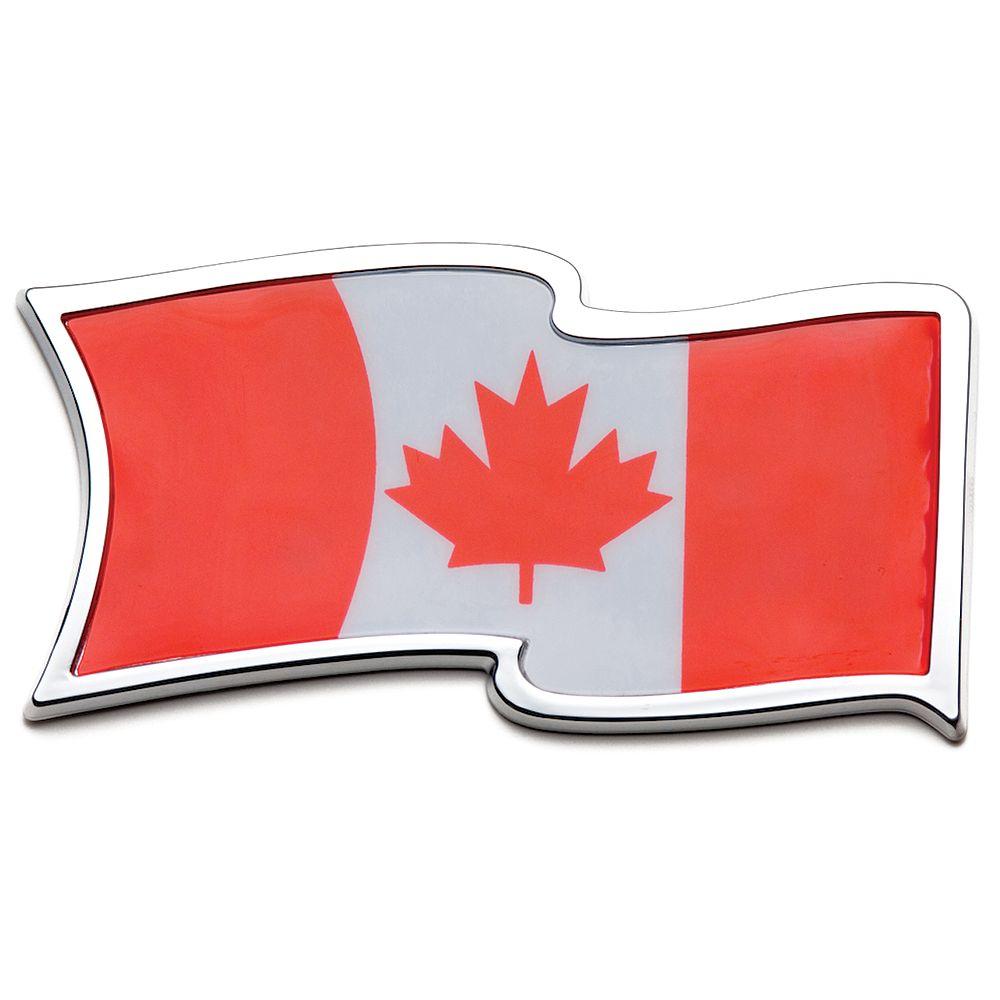 Roadsport Badgez - Chrome Emblems - Cdn. Waving Flag